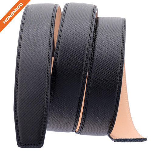 Hongmioo Custom Mens Automatic PU Leather Belt Strap with No Buckle