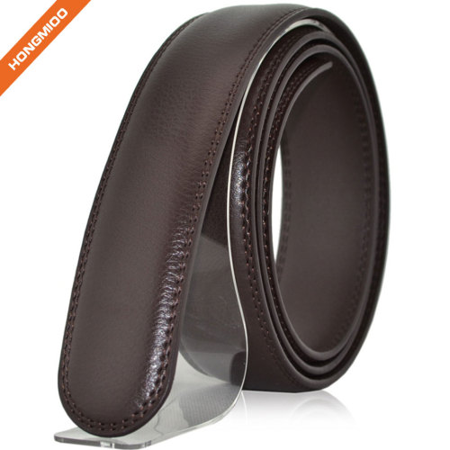 Hongmioo Automatic Men's PU Leather Round Tail Waist Strap Belt No Buckle