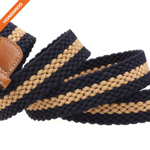 Hongmioo Stretch Belt Polyester Braided Belt With Pin Buckle For Boys