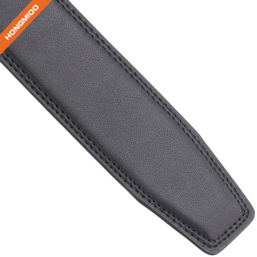 Casual Fashion Automatic PU Belt Strap with no Buckle for Men