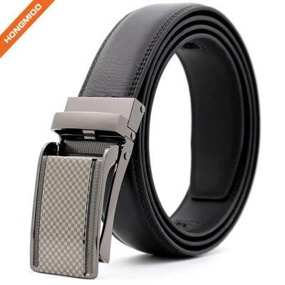 Hongmioo New Technology Comfort Click Buckle Split Leather Ratchet Belt with Custom Logo
