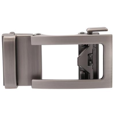 Men's Solid Buckle Automatic Ratchet Leather Belt Buckle