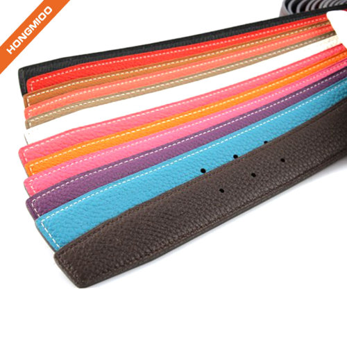 Hongmioo Multi-colored Fashion Leather Belt Straps No Buckle