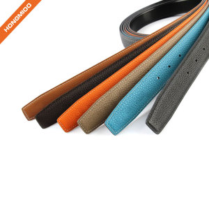 Hongmioo Multi-colored Fashion Leather Belt Straps No Buckle