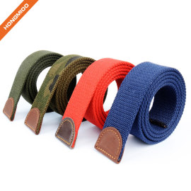 Hongmioo Fabric Webbing Belt Straps with No Buckle
