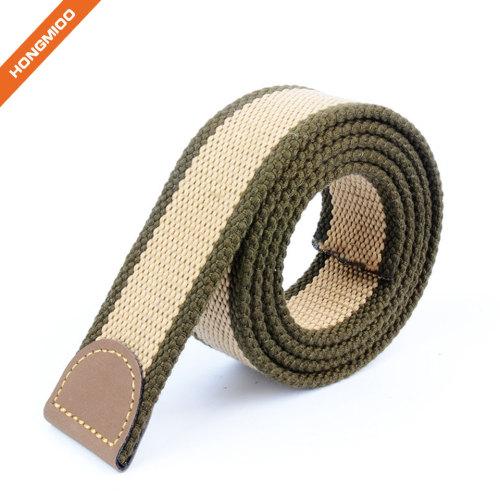 Hongmioo Mens Fabric Webbing Belt Strap no Buckle