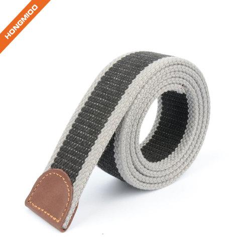 Hongmioo Mens New Custom Color Fabric Belt Strap