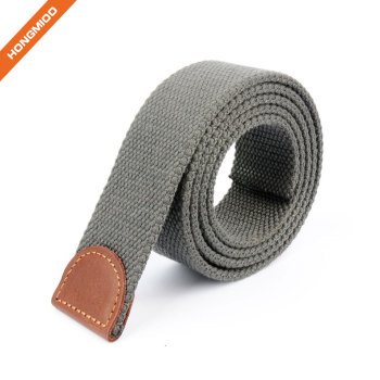 Hongmioo Mens Canvas Fabric Solid Color Belt Strap