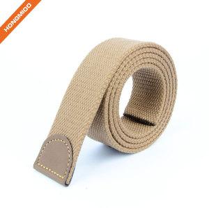 Hongmioo Mens Canvas Fabric Solid Color Belt Strap