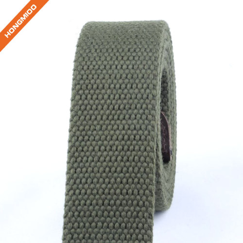 Hongmioo Custom Fabric Belt Straps for Men no Buckle