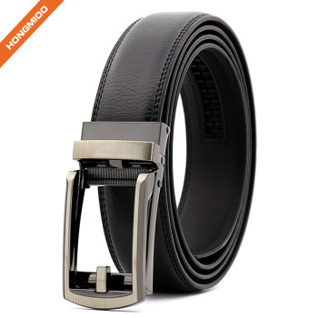 Custom Wholesale Black Brwon New Automatic Buckle Fake Leather PU Ratchet Belt