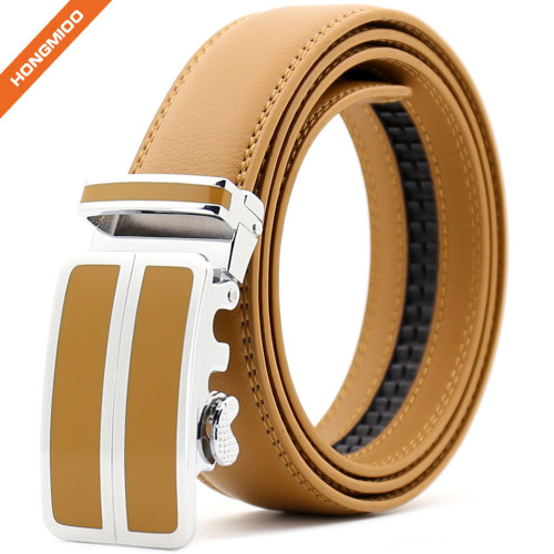 Hongmioo Multicolor Custom Logo Synthetic PU Leather Automatic Men Belts