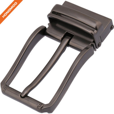 Clamp Pin Buckle Nickel Smart 3.5CM Nickel Free Zinc Belt Buckle with Brushed Satin Finish