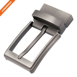 Reversible Clamp Belt Buckle Nickel Free Reversible Prong Buckle Zinc Alloy