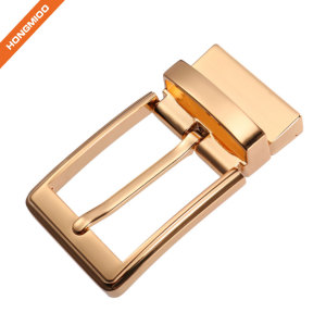 Zinc Alloy Material Reversible Buckle For Formal Belt