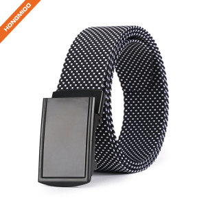 Hongmioo New Coming High Quality Casual Fashion Nylon Fabric Belt with Ratchet Buckle