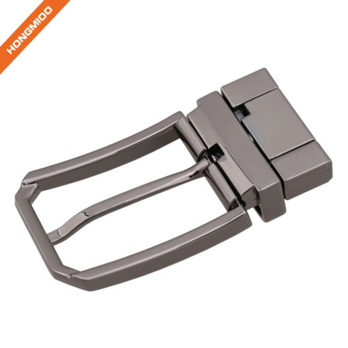 Simple Square Polished Reversible Replacement Belt Buckle