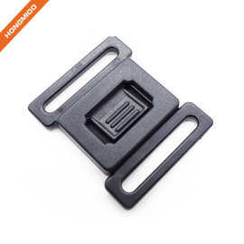 Safety Plastic Locking Side Release Black Belt Buckle