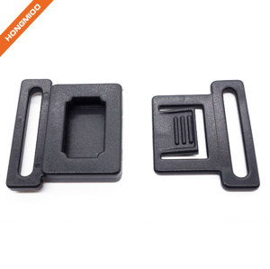 Safety Plastic Locking Side Release Black Belt Buckle