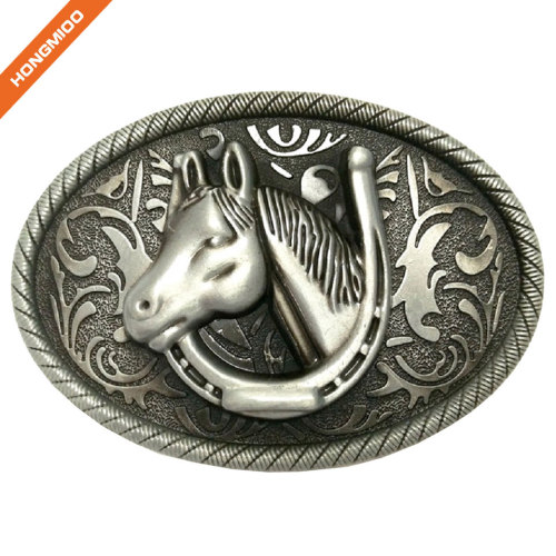 Factory Custom Zinc Alloy Brass Sizes Logo Fashion Western Buckle for Cowboy