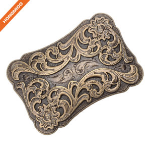 Hongmioo Classic Antique Cowboy Western Women Men's Engraved Buckle