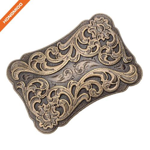 Hongmioo Classic Antique Cowboy Western Women Men's Engraved Buckle