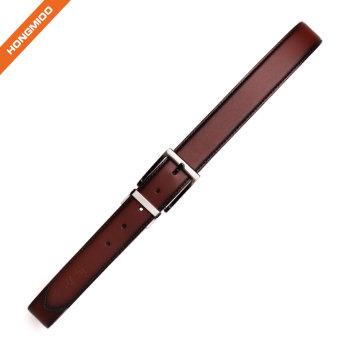 The Classic Leather Everyday Belt With Zinc Alloy Buckle Made By Full Grain Leather