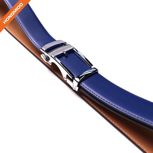 Ratchet Belts for Men Genuine Leather Dress Belt Automatic Buckle For Men