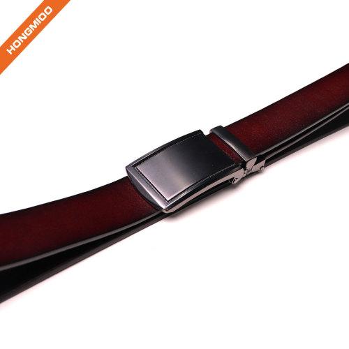 Mens Belt Click Genuine Leather Ratchet Belt For Men Size Customized