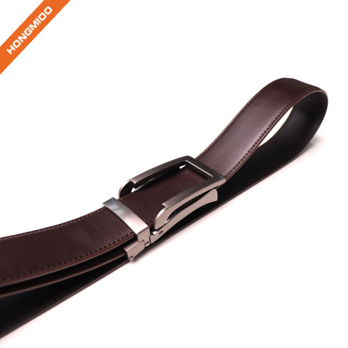 Mens Genuine Leather Ratchet Dress Belt With Open Linxx Buckle