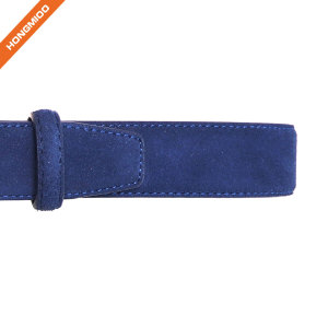 Men's Suede Leather Belt Fashion Casual Belts With Prong Buckle