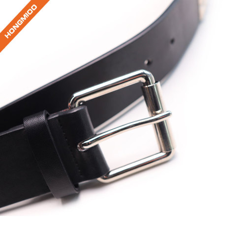 Mens Rivet PU Belts Punk Studded Leather Belts for Men With Pin Buckle