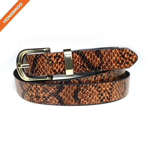 Fashion Womens Leather Belts With Pin Buckle Waist Belt For Jeans Pants