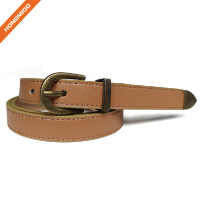 Womens Skinny Leather Belt Solid Color with Pin Buckle Simple Waist Belt for Jeans Dress Pants