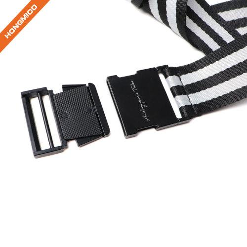 Mens & Womens Canvas Belt with Black Slide Buckle 1 1/2