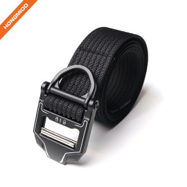 Tactical Belt  Nylon Webbing Waist Belt With Heavy-Duty Quick-Release Buckle
