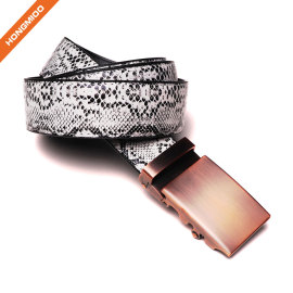 Snake Skin Men's Genuine Python Leather Natural White Pin Buckle Belt For Men