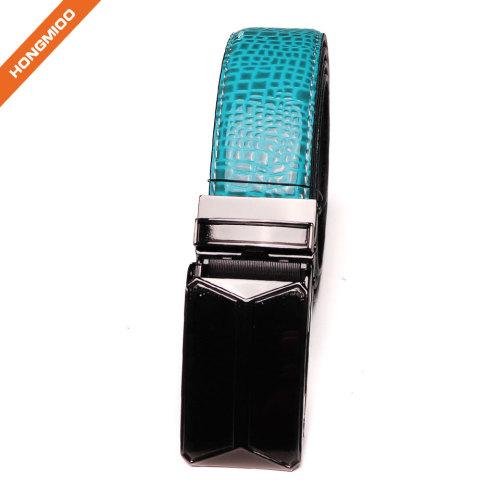 Men's Ratchet Belt With Genuine Leather Slide Belt For Men 1 3/8 Inches Wide