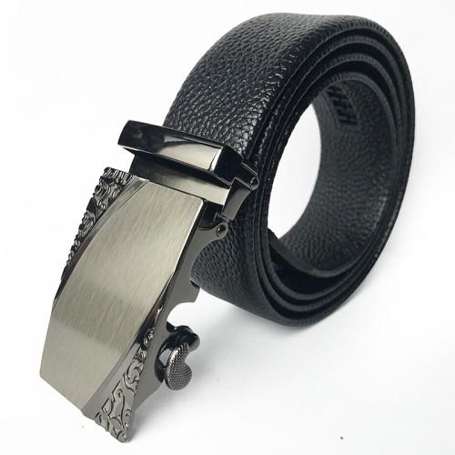 Men's Fashion Microfiber Bonded Leather Automatic Buckle Formal Belt