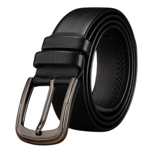 Fashion Stylish Microfiber Bonded Leather Pin Buckle Belt For Men