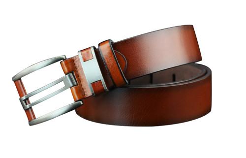 Vintage Men's Microfiber Bonded Leather Pin Buckle Belt