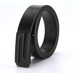 Men's Plate Pin Buckle Microfiber Leather Formal Casual Belt