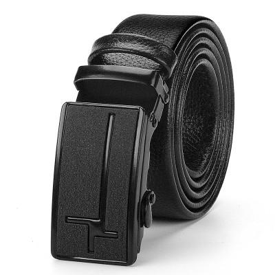 Men's Automatic Buckle Black Belt Length Adjustable