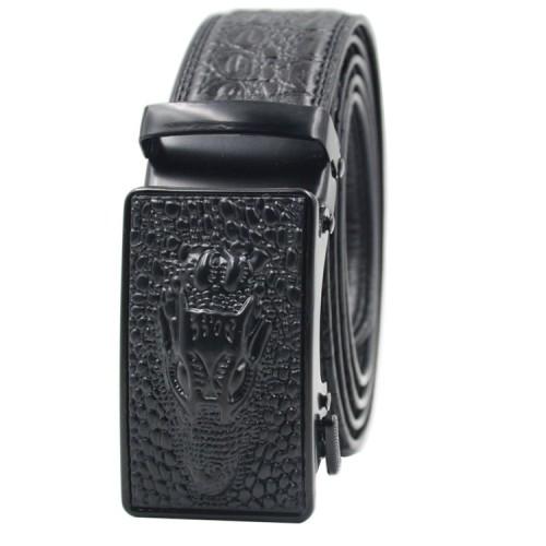 Designer Belt Men Without Holes Automatic Buckle Crocodile Leather Belt