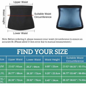 Sauna Belt Sweat Waist Trainer For Women Men Weight Lose Heat Trapping Workout Slimming Hot Fat Waist Trimmer