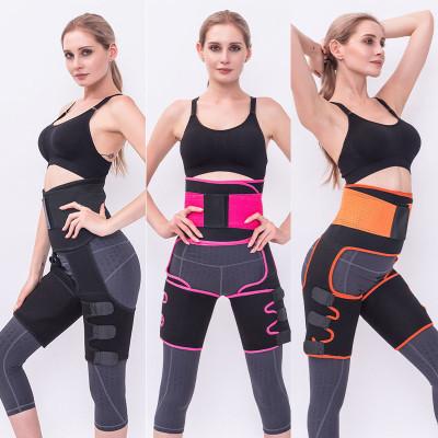 Thigh Waist Trainer for Women 3 In 1 Waist Thigh Trimmer Workout Sweat Band Butt Lifter Neoprene Thigh Slimmer