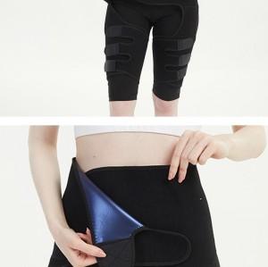 Power Waist Thigh Trimmer Premium Nano Silver Waist Trainer Thigh Slimmer Butt Lifter