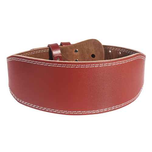 Men Women Cowhide Padded Weightlifting Protection Belt Great Lower Back & Lumbar Support for Squats, Deadlifts, Gym Workouts