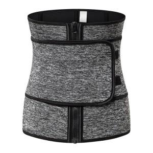 Women's Zipper and Magictape Waist Trainer Waist Trimmer Belt Sweat Sauna Body Shaper Slim Corset