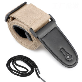 Guitar Strap Black Set for Acoustic, Electric and Bass Guitar 2 Inch Wide Guitar Belt
